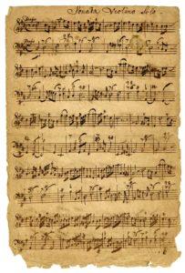 historický notový záznam Sonata Violino Solo